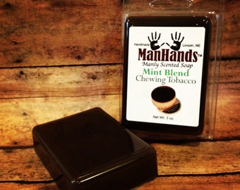 Mint Blend Chewing Tobacco Scented Soap 3 oz. Bar
