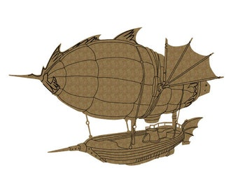 Steampunk Airship Laser Cut Chipboard FREE SHIPPING! in US