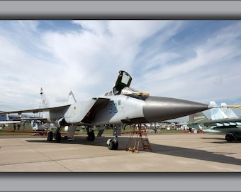 Poster, Many Sizes Available; Fighter Interceptor Mikoyan-Gurevich Mig-31Bm