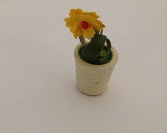 Antique \German Dollhouse Potted Plant