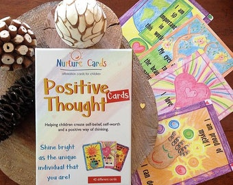 affirmation cards, affirmation cards for children, Positive Thought Cards, inspirational, teaching resources