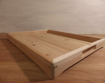 Natural cedar wood serving tray