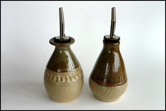 Essig Und ölspender zwei keramik olivenöl ausgießer essig flaschen ölspender öl
