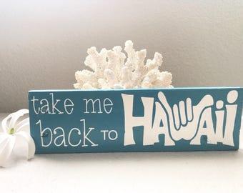 Take me back to Hawaii shaka home decor wood sign | reclaimed pallet wood