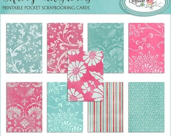 50%OFF Shabby old fabrics printable vintage labels, pocket scrapbooking cards, printable stickers, P279