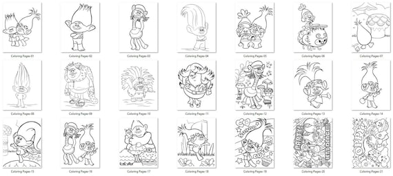 trolls coloring pages trolls birthday troll colorings trolls games trolls party trolls printables troll birthday decor coloring pages - Trolls Coloring Pages