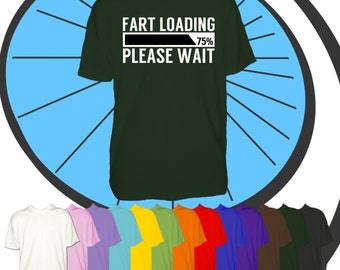 Childrens Fart Loading Funny T Shirt - Kids Comedy Farting Tshirt - Childs Rude T-Shirt - Boys & Girls Gift Present