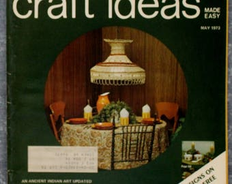 Vintage Decorating Craft Ideas Made Easy, May 1973