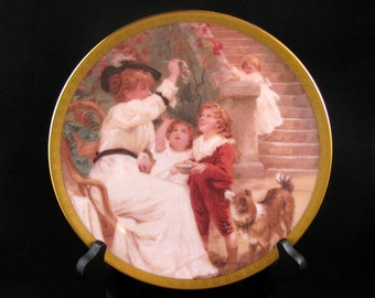 """Lenox Collectible Plate: Chasing Bubbles"""" 1993 Mother's Day Collection"""