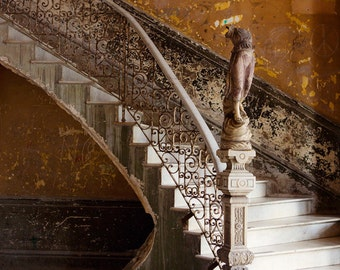 "Cuba Photography Print, Fine Art Photography, Urban Decay, Urban Art, Architecture Art, Abandoned Building in Havana ""The Staircase"""