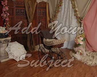 Digital Photo Background Vintage Victorian Backdrop
