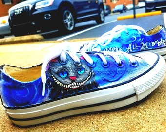 Cheshire Cat Alice in Wonderland (white version) Shoes