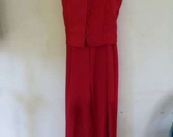 Red 1960's pantsuit