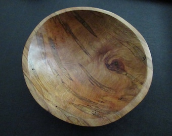 Hand Turned Wooden Bowl Burled Cherry Primitive OOAK NC Wood Bowl