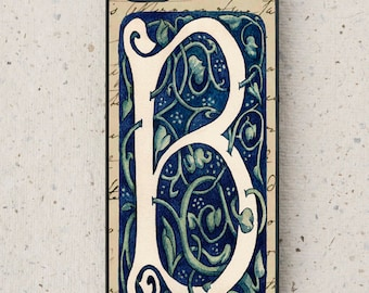 iPhone Cover(all models) - smartphone - Mobile - William Morris style illustration - Letter B - Galaxy S3 S4 S5 S6 S7 S8 & more