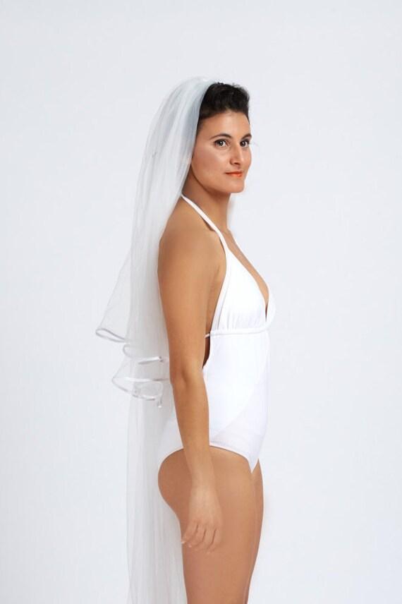 Bride one piece swimsuit Wedding swimwear Fresh and Sexy