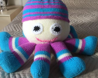 Soft cuddly baby octopus