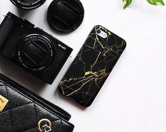 Black Marble iPhone 6 Case iPhone 6s Case iPhone 6 Plus 6s Plus iPhone 7 7 Plus  iPhone 8 8 Plus SE Case Samsung Galaxy S6 S7 S8 case cover
