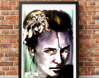 ERA-Professional typographic Art print in limited edition and signed-print-art-made in Italy-arte-collection-quality paper-woman