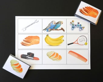 Picture Card Game and Memory Matching - Illustrated Table Mat for people with Dementia or Learning Difficulties