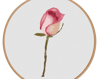 MORE for FREE - Rose Red- Counted Cross stitch pattern PDF - Instant Download - Cross Stitch Pattern - Flowers-Love- Needlepoint #1512