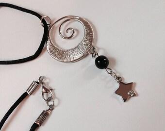 Twisty Silver Star Necklace