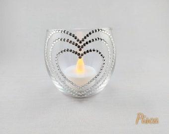 Swarovski crystal candleholder, home decor, Wedding decor, anniversary gift, party decor, bridesmaids gift, birthday gift, LED tealight