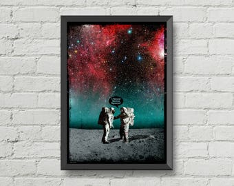 I Need Some Space,poster,Digital print,artwork,christmas,art,space,galaxy,moon,stars,home decor,Astronaut,Geek,CHRISTMAS