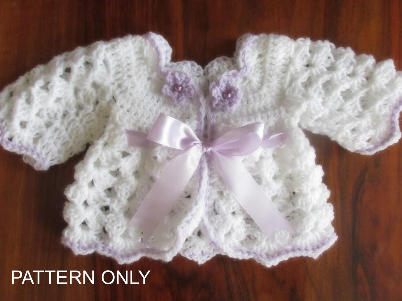 Cardigan crochet pattern, baby jacket crochet coat crochet pattern ...