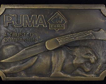 Vintage 1977 Puma Knife Gutmann Cutlery Co Solingen Germany Knives Collectible Belt Buckle