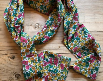 Liberty Daisy and Poppy Silk Voile Scarf