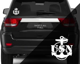 USN Navy - Vinyl Decal