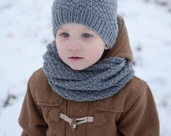Chunky Knit Kids Infinity Scarf, Kids Infinity Scarf, Toddler Infinity Scarf, Knitted Merino Wool Kids Neckwarmer, Kids Winter Scarf