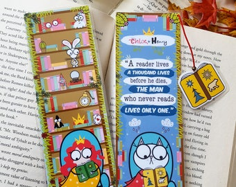Chloe & Henry Read quotes bookmark handmade