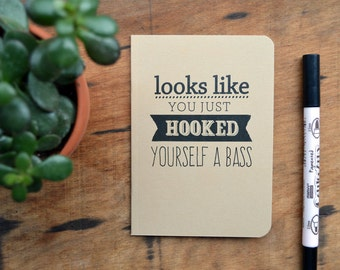 Hooked yourself a Bass - Chuck Bass quote notebook