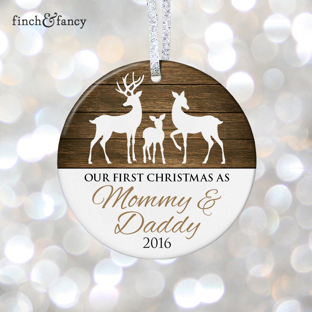 Erste Weihnachten als Mama & Papa Ornament Geschenk neue