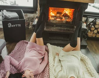 Chunky wool blanket, Chunky MERINO wool blanket, Chunky HAND KNIT blanket, Natural wool blanket, Chunky knit blanket, Chunky throw blanket