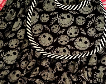 Nightmare Before Christmas - Three Piece Set - Diaper pants - Bib - Knit Knee grip Leg Warmers - Ready to Ship