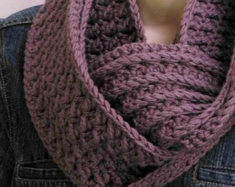 Crochet Scarf Pattern - Textured Cowl Crochet Pattern No.501 Digital Download English