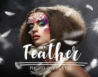 40 Feather photo overlays, photoshop overlays, png overlays, feather overlay, kids overlay