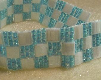 PATTERN Tila Checkerboard  bead  Bracelet