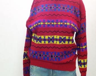 80's  90's womens Vintage,retro winter sweater