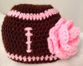 Pink Lady Football Beanie