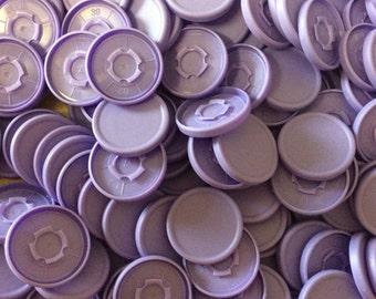 Medicine  flip off vial caps for crafts: lilac 22mm caps 500+ pieces