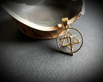sacred geometry: merkaba pendant (spinning)