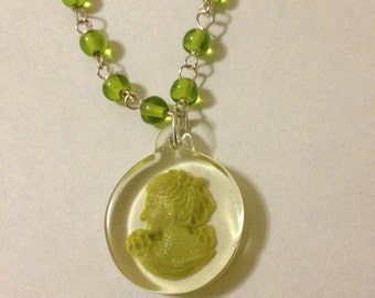 Cameo Intaglio Necklace Lady Of Spring