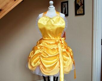 Princess apron, Belle apron ,cosplay apron.