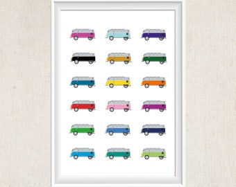 VW Campervan - Illustration Print