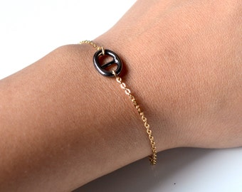Navy mesh bracelet