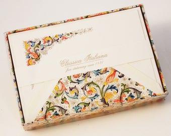 Classic Florentine Italian Letterpress Note Cards